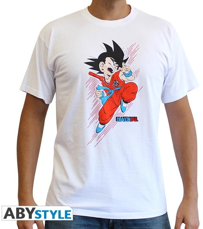 Футболка Dragon Ball: Goku Young (белая)На футболке Dragon Ball: Goku Young белого цвета размера L изображен Гоку, который отправляется в наступление.<br>