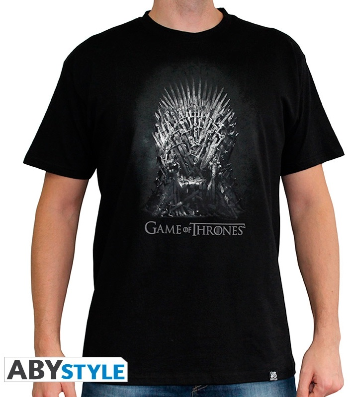 Футболка Game Of Thrones: Iron Throne (черный) (XXL)На футболке Game Of Thrones: Iron Throne черного цвета размера XXL изображен железный трон из сериала «Игра престолов».<br>