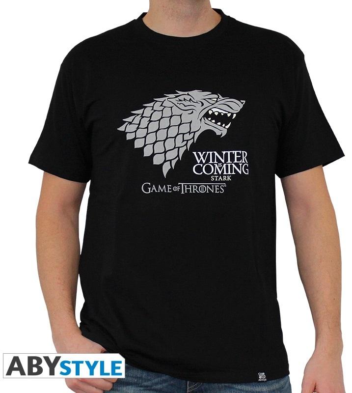 Футболка Game Of Thrones: Winter Is Coming (черный) (M)На футболке Game Of Thrones: Winter Is Coming черного цвета размера M изображен герб семьи Старков.<br>