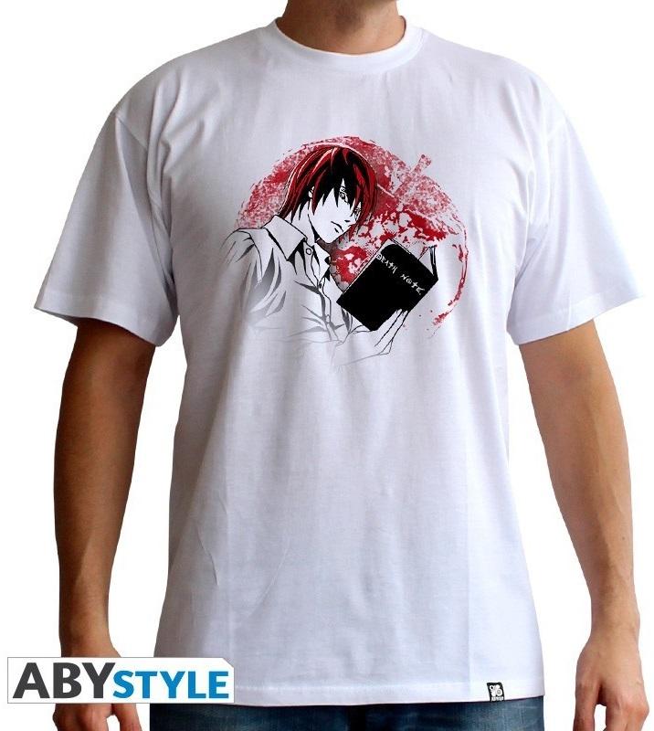 Футболка Death Note: Light (белая) (S)На футболке Death Note: Light белого цвета размера S изображен Лайт Ягами, главные персонаж манги, аниме-сериала и фильмов «Тетрадь смерти».<br>