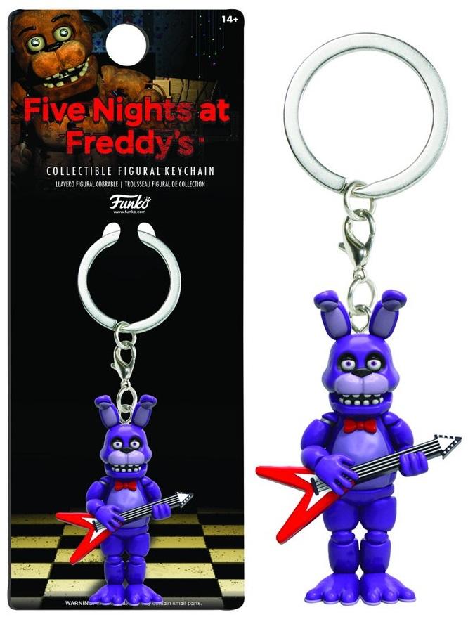 Брелок Five Nights At Freddys: BonnieБрелок Five Nights At Freddys: Bonnie воплощает собой одного из персонажей игры Five Nights at Freddys (Пять ночей у Фредди).<br>