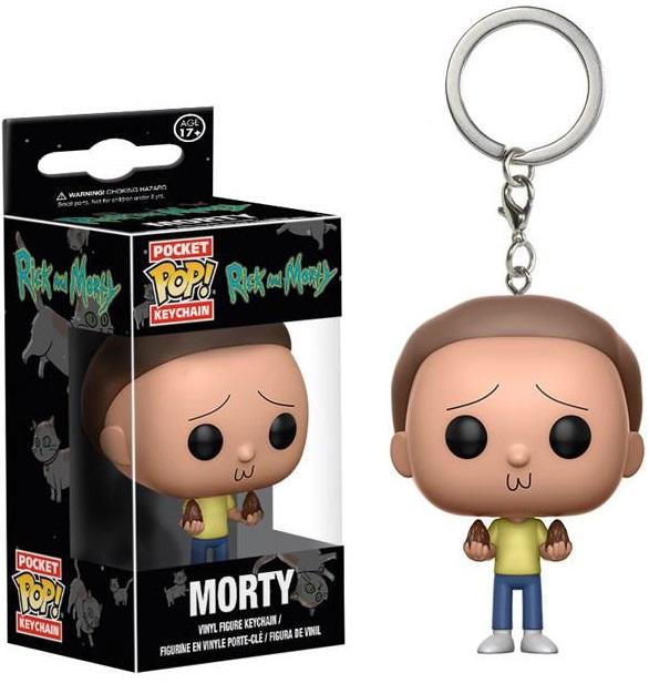 Брелок Funko POP Rick &amp; Morty: MortyБрелок Funko POP Rick &amp;amp; Morty: Morty создан по мотивам американского анимационного сериала, созданного Джастином Ройландом и Дэном Хармоном.<br>