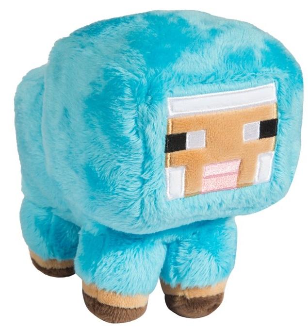 Мягкая игрушка Minecraft: Small Baby Sheep Blue (18 см) мягкая игрушка minecraft sheep 26 см