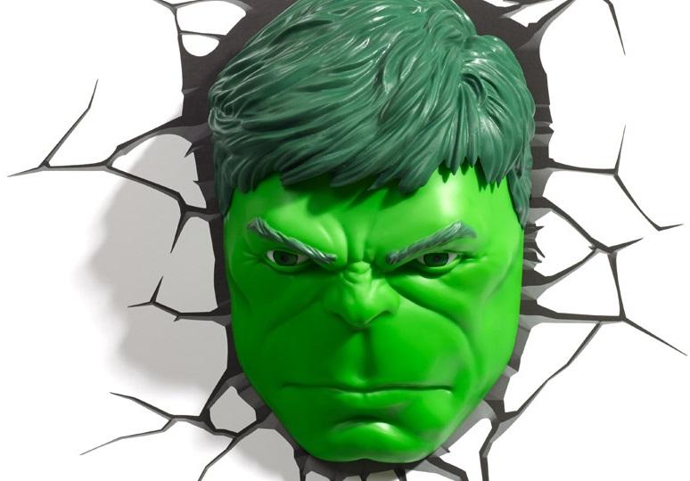 3D-Светильник Hulk Face