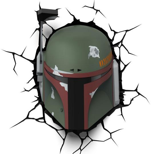 3D-Светильник Star Wars: Boba Fett светильник светодиодный 3dlightfx star wars lead droid 3d