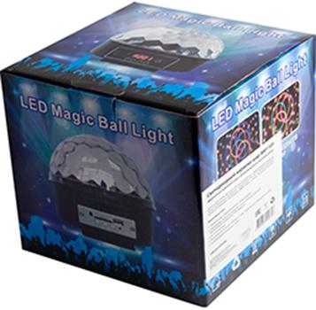 Светодиодный караоке-шар Belsis BM1105Светодиодный караоке-шар проигрывает музыку через флешку, Bluetooth смартфона или Bluetooth ПК. Мигает разными цветами в ритм музыки. В комплекте есть пульт.<br>