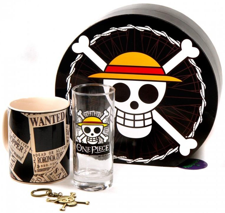 Подарочный набор One Piece (кружка, стакан, брелок) брелок кружка объектив