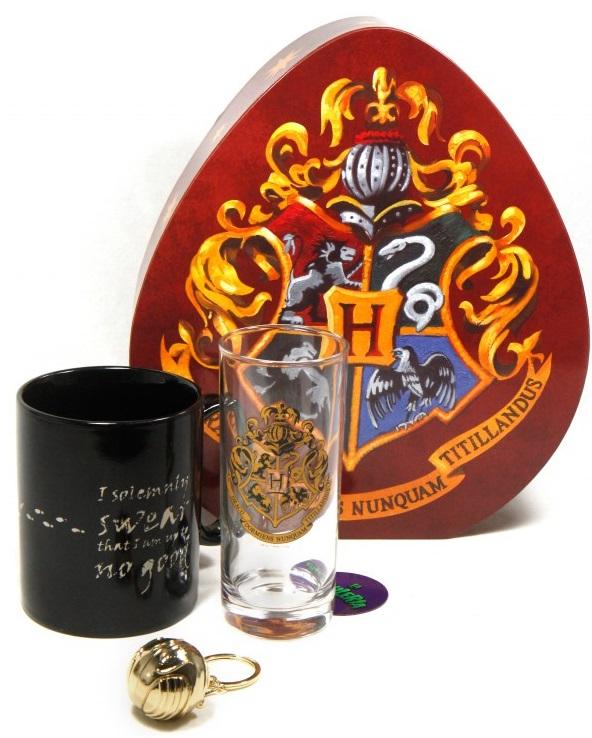 Подарочный набор Harry Potter: Hogwarts (кружка, стакан, брелок) брелок кружка объектив