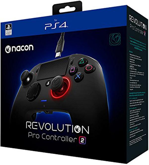 Проводной геймпад Nacon Revolution Pro Controller 2  для PS4 и РСКонтроллер, разработанный для профессионалов eSports. Получите максимум преимуществ с полностью настраиваемым геймпадом, Nacon Revolution Pro Controller 2, сочетающим функции и элементы управления eSports для улучшения и адаптации к каждому стилю игры.<br>