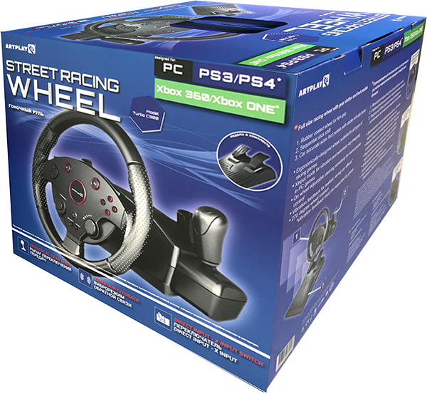 Руль Artplays Street Racing Wheel Turbo C900 для РС/PS4/PS3/XboxOne/XBox360