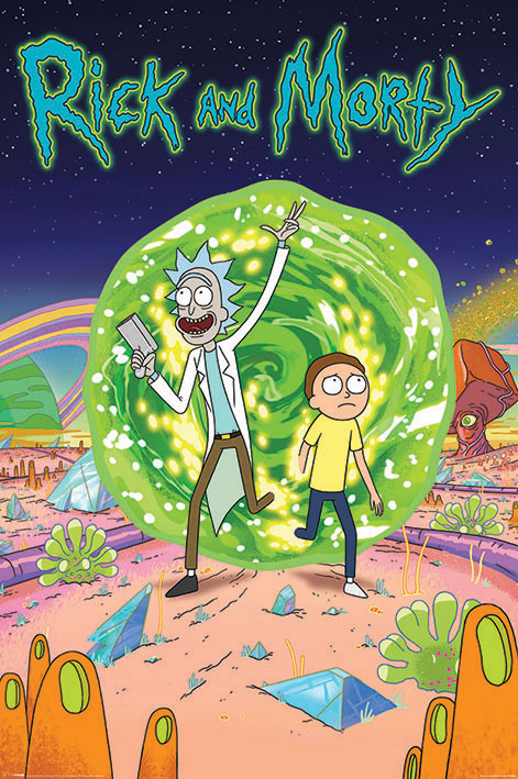 Плакат Rick And Morty: Portal сумка printio рик и морти  rick and morty