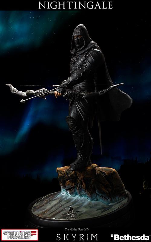 Статуя The Elder Scrolls 5 Skyrim Nightingale (40 см)Gaming Heads представляет вторую статую в серии The Elder Scrolls V: Skyrim® Nightingale. Nightingale &amp;ndash; секта элитных воров, настолько скрытная, что многие не верят, что они действительно существуют. Они присягнули служить и наблюдать за святынями Дандричскому Принцу Ночному.<br>