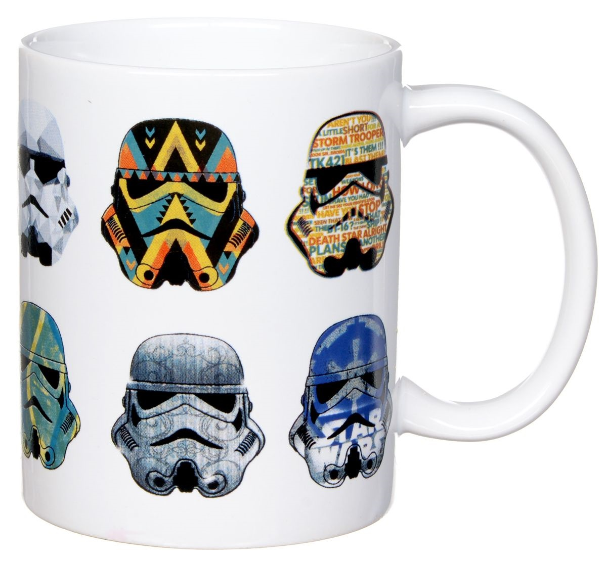 Кружка Звёздные войны: Стилизованные шлемы (350 мл)