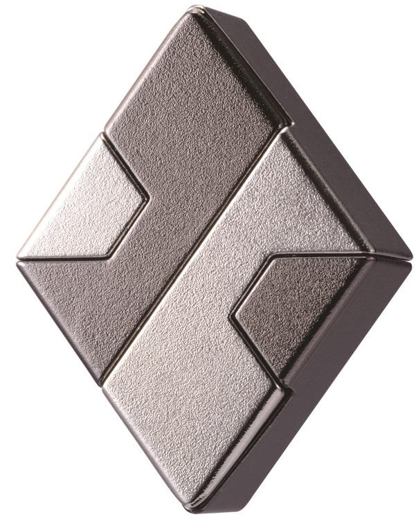 Головоломка DiamondГоловоломка Diamond состоит из двух частей. Разделить ее на части довольно легко, но соединить эти части снова вместе – задача гораздо более трудная.<br>