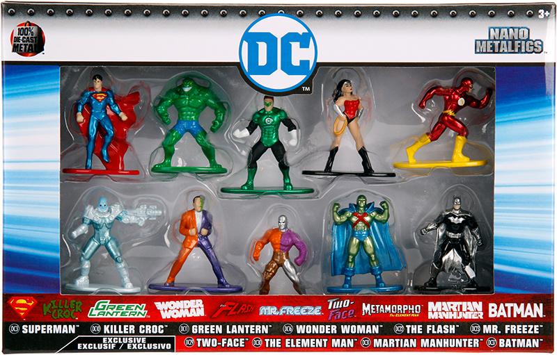 Набор фигурок DC 10-Pack (4 см)Набор металлических фигурок DC 10-Pack, воплощает собой персонажей вселенной DC Comics.<br>