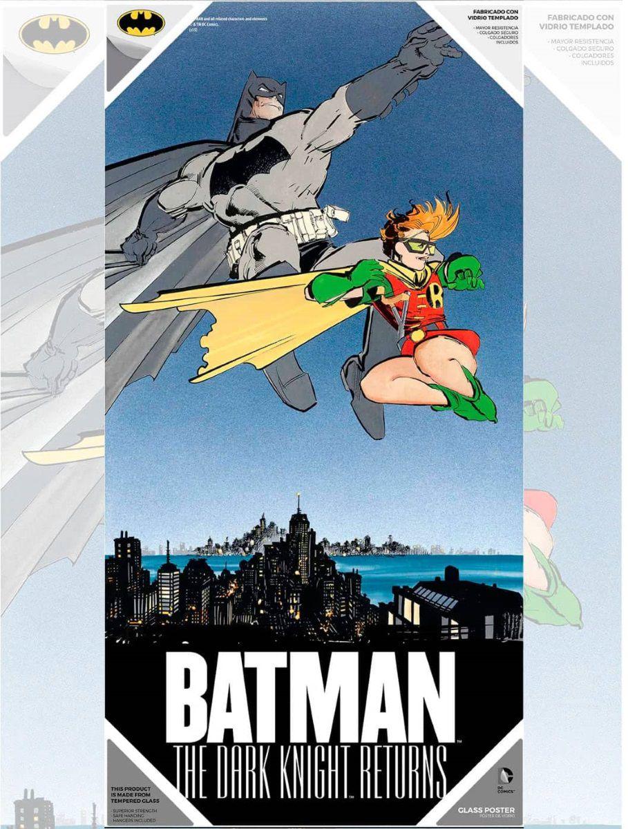 Стеклянный постер Бэтмен и РобинСтеклянный постер Бэтмен и Робин из закаленного стекла создан по мотивам комиксов вселенной издательства DC. Повышенная прочность. На нем имеется подвесной кронштейн на стену.<br>