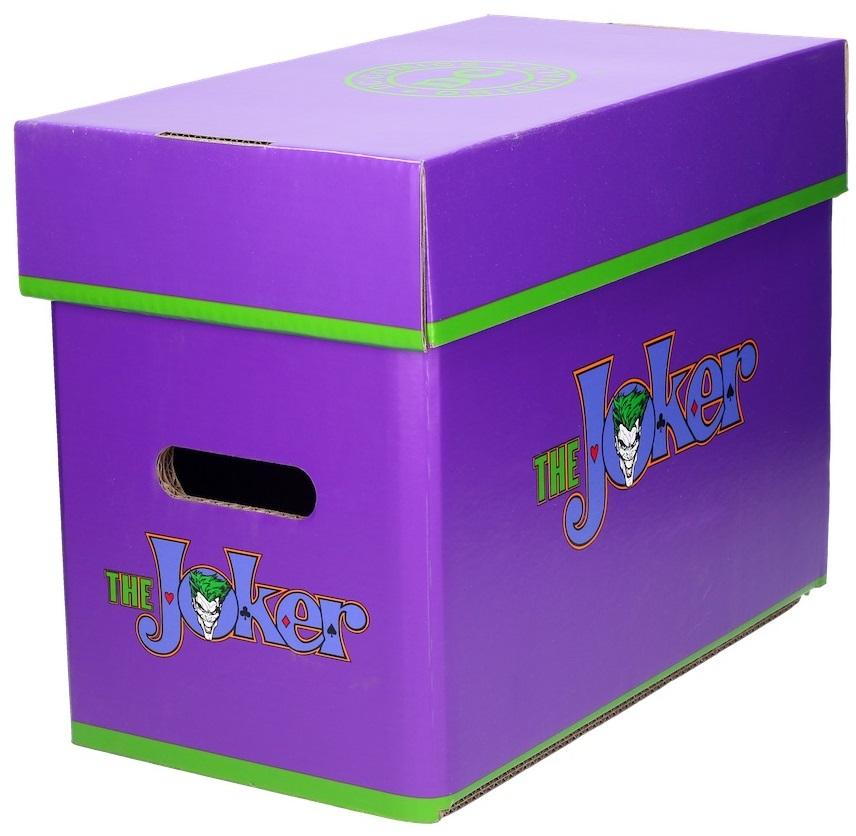 Бокс для хранения комиксов ДжокерБокс для хранения комиксов Джокер создан по мотивам комиксов вселенной издательства DC, на нем изображен один из самых известных суперзлодеев – Джокер.<br>