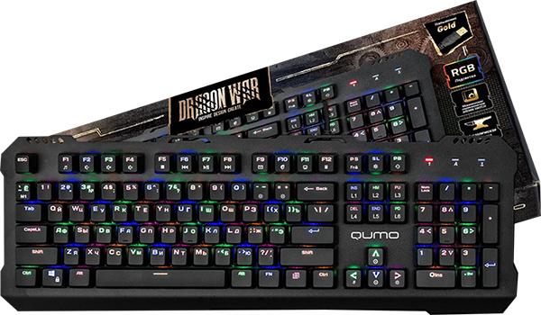Клавиатура Qumo Dragon War Apparatus К34 проводная механическая игровая с подсветкой для PC
