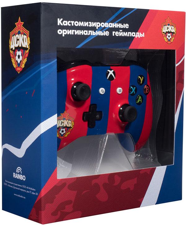 Кастомизированный беспроводной геймпад для Xbox One (ЦСКА. Красно-Синий)