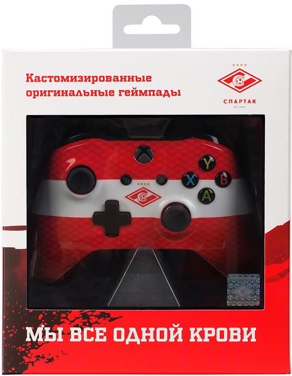 Кастомизированный беспроводной геймпад для Xbox One (Красно-белый)