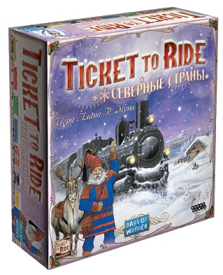 Настольная игра Ticket To Ride: Северные страны северные срубы и дома