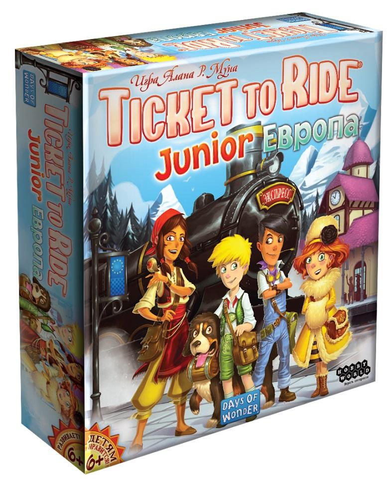 Настольная игра Ticket To Ride Junior: ЕвропаTicket to Ride: Европа – знаменитая настольная игра о приключениях на железной дороге. В версии Junior к игре смогут присоединиться самые юные путешественники.<br>