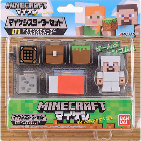 Фигурка Minecraft Starter Set Survival Pack With Steve Figure (4,1 см) фигурка minecraft adventure steve 10 см
