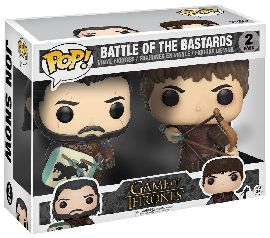 цены Набор фигурок Funko POP Game Of Thrones: Battle Of The Bastards Ramsay Bolton & Jon Snow (9,5 см)