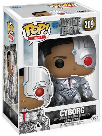 Фигурка Funko POP Heroes Justice League: Cyborg (9,5 см)Фигурка Funko POP Heroes Justice League: Cyborg создана по мотивам комикса издательства DC Comics и воплощает собой Киборга.<br>