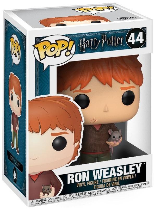 Фигурка Funko POP: Harry Potter – Ron Weasley With Scabbers (9,5 см) harry potter ron weasley gregory goyle lucius malfoy argus narcissa professor sprout figures bricks toys for children kl9002