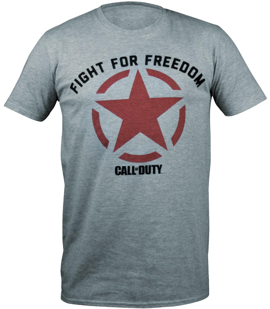 Футболка Call Of Duty WWII: Fight For Freedom Star (серая) (S)Лицензионная футболка с круглым воротом из 100% хлопка Call Of Duty WWII: Fight For Freedom Star станет отличным подарком для фанатов игры и легендарной серии в целом.<br>
