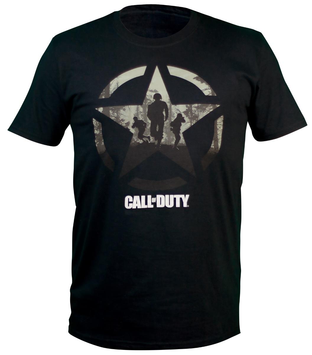 Футболка Call Of Duty WWII: Star Soliders (черная) (M) футболка с полной запечаткой для мальчиков printio кал оф дьюти call of duty игры
