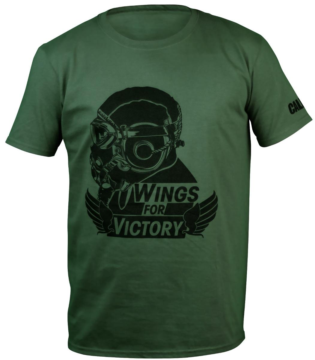 Футболка Call Of Duty WWII: Wings Black Army (зеленая) (S)Лицензионная футболка с круглым воротом из 100% хлопка Call Of Duty WWII: Wings Black Army станет отличным подарком для фанатов игры и легендарной серии в целом.<br>