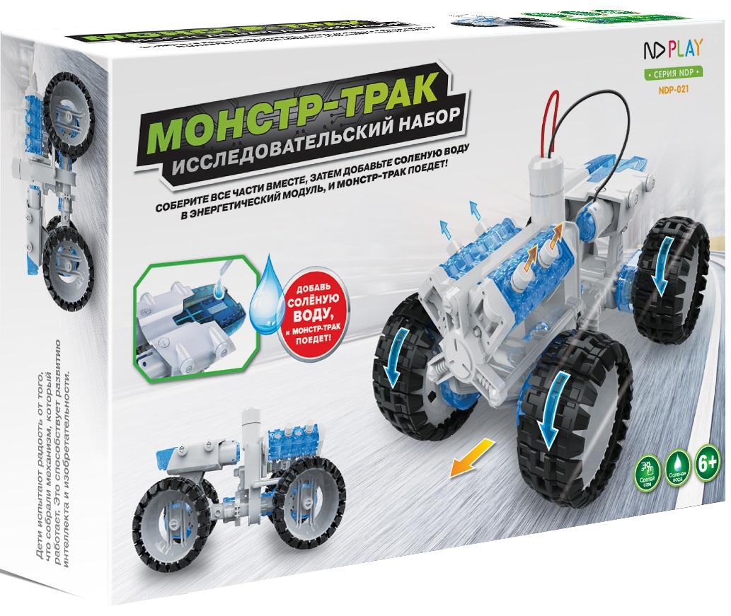 Конструктор Монстр тракРоботы на энергии солёной воды несомненно обрадуют каждого ребенка! Монстр-трак ездит на простой соленой воде. Игрушка наглядно демонстрирует возможность получения энергии из соленой воды.<br>