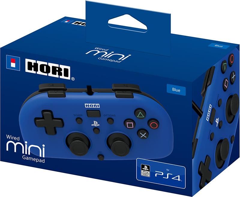 Геймпад Horipad Mini для PS4 (синий)Новый, официальный геймпад для PS4 от Hori – идеально подходит в качестве второго геймпада для детей от 6 лет.<br>