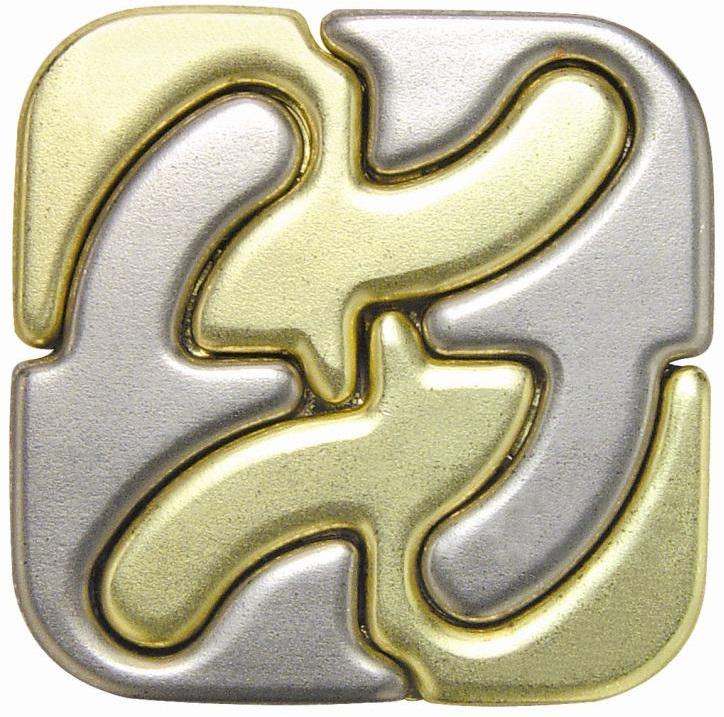 POWER WAYГоловоломка Square (Каре) состоит из 4 элементов, которые складываются в квадрат. Вы сможете его разобрать?<br>