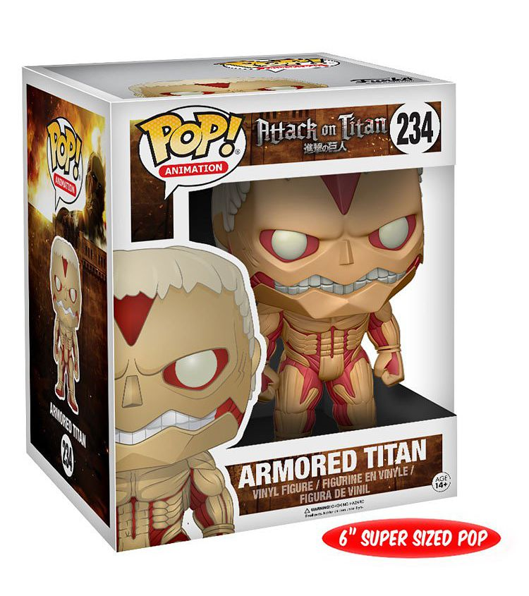 Фигурка Funko POP Animation Attack On Titan: Armored Titan (15 см)Фигурка Funko POP Animation Attack On Titan: Armored Titan создана по мотивам аниме-сериала «Атака на титанов», основанного на постапокалиптической магне Хадзимэ Исаямы.<br>