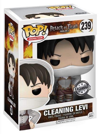 Фигурка Funko POP Animation Attack On Titan: Cleaning Levi (15 см)Фигурка Funko POP Animation Attack On Titan: Cleaning Levi создана по мотивам аниме-сериала «Атака на титанов», основанного на постапокалиптической магне Хадзимэ Исаямы.<br>