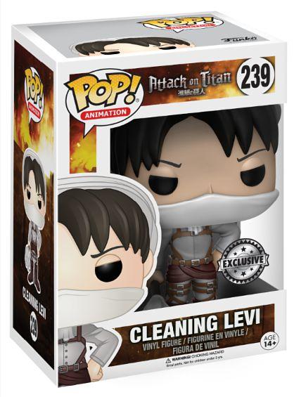 Фигурка Funko POP Animation Attack On Titan: Cleaning Levi (15 см)Фигурка Funko POP Animation Attack On Titan: Cleaning Levi создана по мотивам аниме-сериала «Атака на титанов», основанного на постапокалиптической магне Хадзимэ Исаямы.<br>