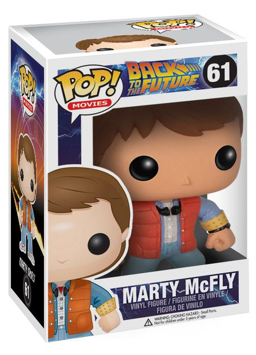 Фигурка Funko POP Movies Back To The Future: Marty McFly (9,5 см) building blocks super heroes back to the future doc brown and marty mcfly with skateboard wolverine toys for children gift kf197