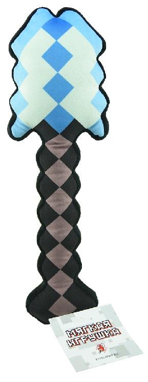 Мягкая игрушка Лопата пиксельная 8 Бит (алмазная) (35 см)