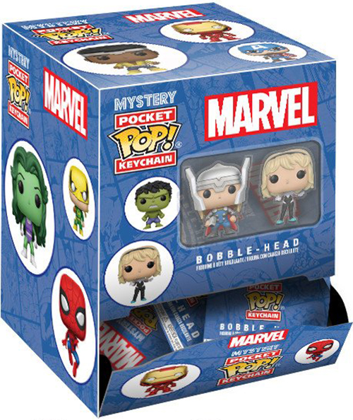 Брелок Funko Marvel POP Blind Bag (в ассортименте) фигурка героя мультфильма toys daddy 12 marvel funko brinquedos 12cm marvel funko pop loki gold helmet pvc the dark world thor
