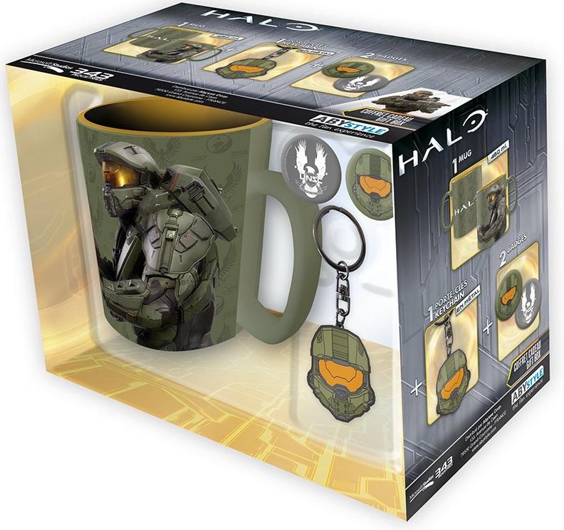 Подарочный набор Halo (кружка, брелок, значки)Подарочный набор Halo создан по мотивам научно-фантастической видеоигры Halo. Станет отличным подаркам для всех поклонников компьютерных игр.<br>