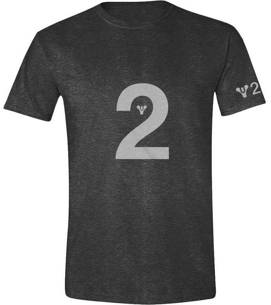 где купить Футболка Destiny 2: Logo (антрацитовый меланж) по лучшей цене