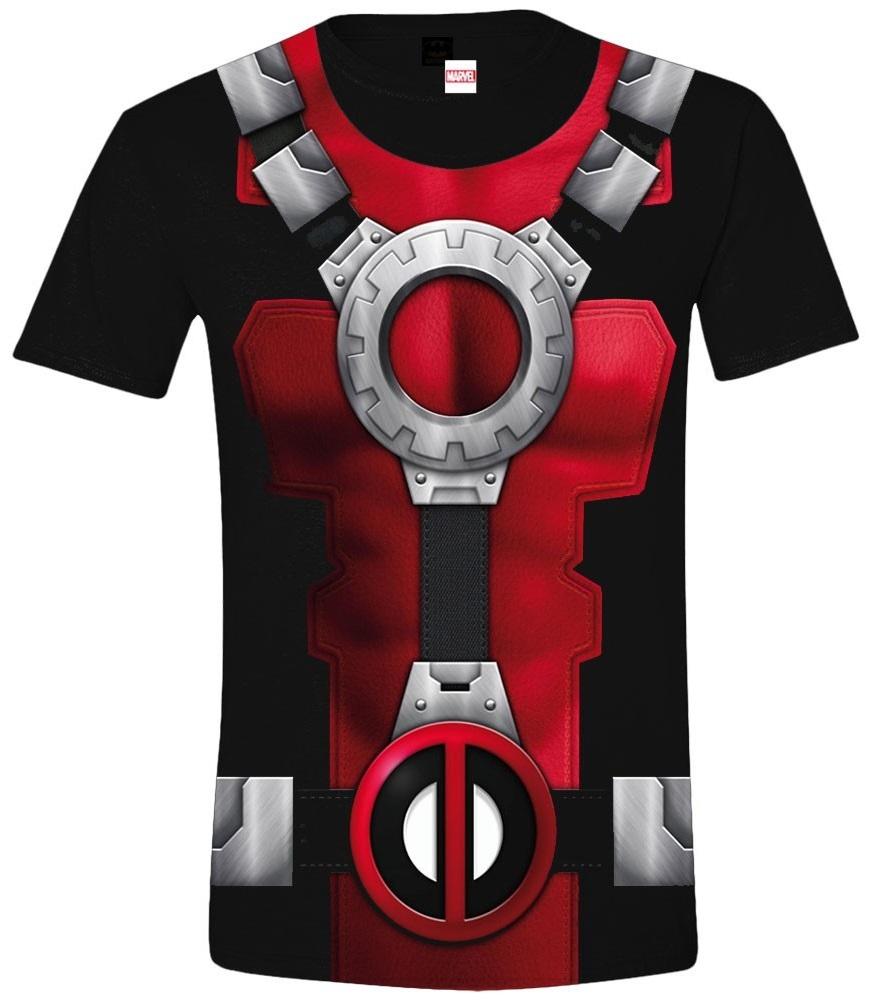 Футболка Deadpool: Costume (черная)Футболка Deadpool: Costume создана по мотивам серии комиксов и фильмов вселенной Marvel об одном из самых популярных антигероев – Дэдпуле.<br>