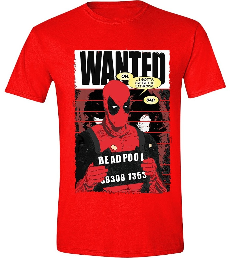 Футболка Deadpool: Wanted Poster (красная) a wanted man