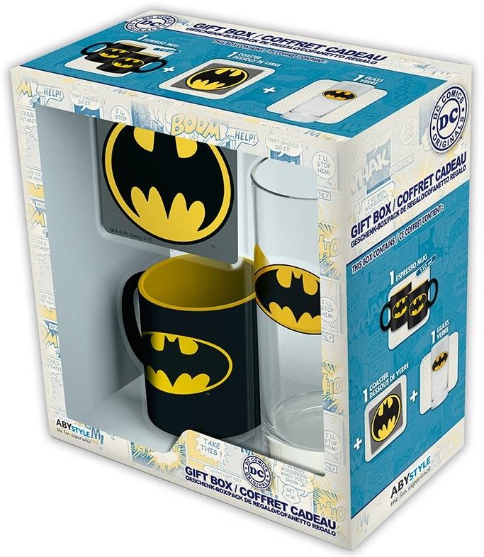 Подарочный набор Batman (кружка, стакан, подставка)