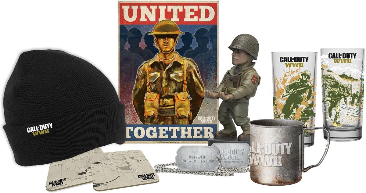 Коллекционный набор Call Of Duty WWIIКоллекционный набор Call Of Duty WWII создан по мотивам видеоигры в жанре трёхмерного шутера от первого лица, которая разработана студией Sledgehammer Games.<br>