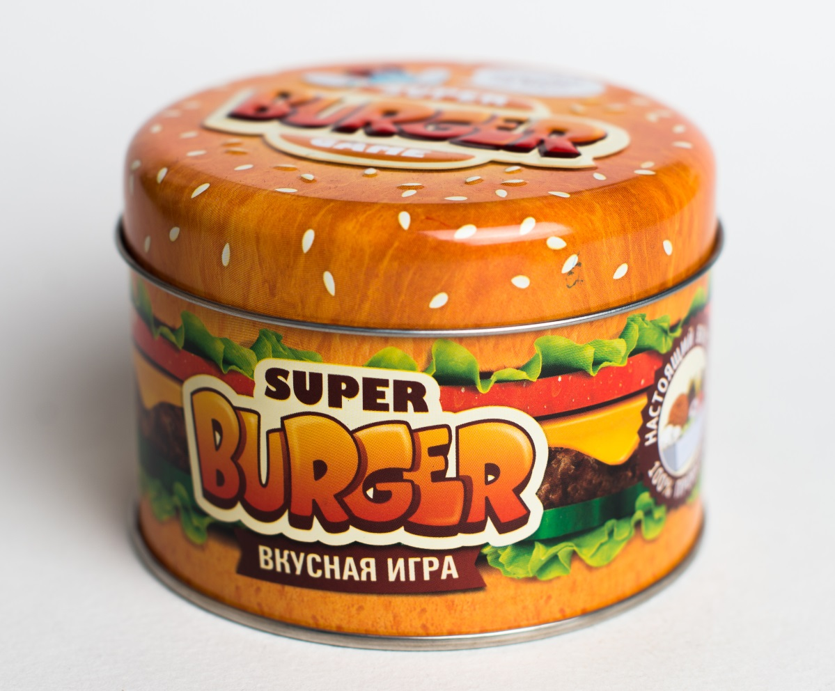 Настольная игра SuperBurgerВыбирайте свою стратегию кулинарного боя в настольной игре SuperBurger, кидайте вкусные начинки или горячие карты, запускайте голодных мух, солите, перчите...<br>