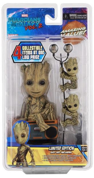 цены на Подарочный набор Guardians of the Galaxy 2: Groot Gift Set Limited Edition (фигурка, наушники, держатели проводов)
